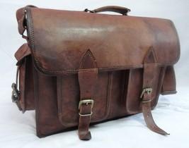 16x12' Men's Vintage Leather DSLR Camera Bag Padded Briefcase Macbook Satchel image 7