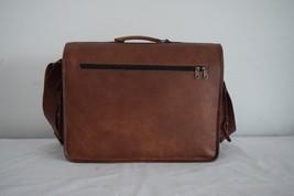 16x12' Men's Vintage Leather DSLR Camera Bag Padded Briefcase Macbook Satchel image 5
