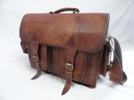 16x12' Men's Vintage Leather DSLR Camera Bag Padded Briefcase Macbook Satchel image 8