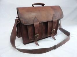 16x12' Men's Vintage Leather DSLR Camera Bag Padded Briefcase Macbook Satchel image 6