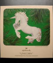 Hallmark Keepsake Christmas Ornament 1983 Unicorn Hand Painted Porcelain Boxed - $12.99