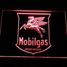 NEON LED LIGHT SIGN  MOBILGAS   OIL GAS MOBLE  - $29.99