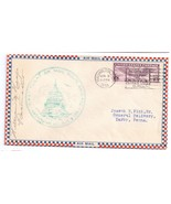AM 11 First Flight Washington DC 1931 Airmail Cover FFC PM Heaps Signed - $6.69