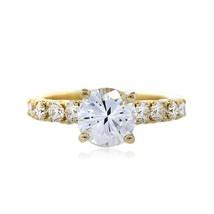 1.00CT Round Forever One Moissanite Diamond Engagement ring 14K Yellow Gold - $773.43