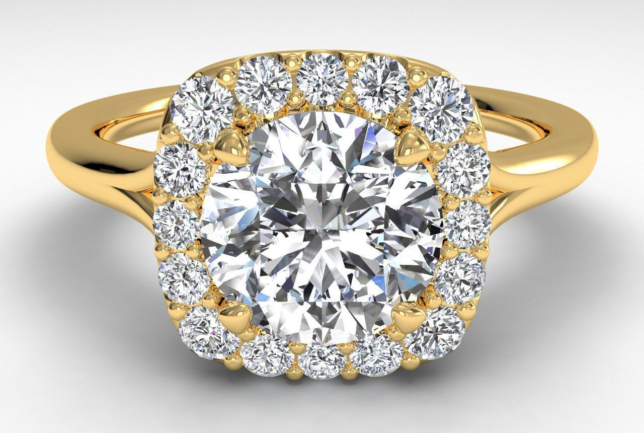 0.75CT Round Forever One Moissanite Diamond Ring 14K Yellow Gold