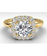 0.75CT Round Forever One Moissanite Diamond Ring 14K Yellow Gold - £630.66 GBP