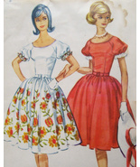 McCalls 5731 Rockabilly Dress Pattern with Attached Petticoat Vintage 19... - $24.95