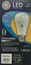 2 GE LED Soft White 60W Equivalent Dimmable A19 Light Bulb uses 10W  - $9.00
