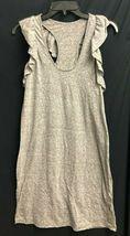 IRR Current Elliott Shirt Dress Ruffles The Cadence Scoop-Neck Heathered  *1 image 5