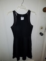 Womens H&M black dress with lace detail size small - $8.75