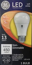 4 GE LED Soft White 40W Equivalent Non Dimmable A19 Light Bulb uses 5W - $25.16