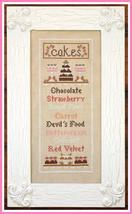 CLEARANCE Cake Menu cross stitch chart Country Cottage Needleworks - $5.75