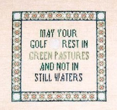 CLEARANCE Golf Game OOP cross stitch chart Bush... - $4.00