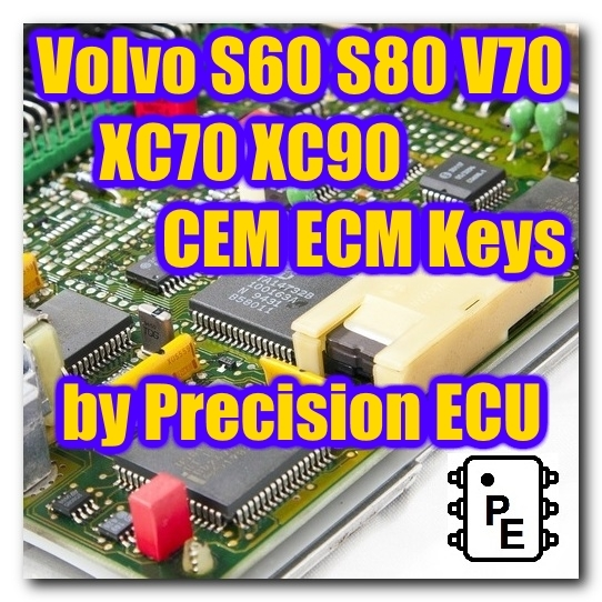Volvo S60 S80 V70 Xc70 Xc90 2000 2004 Cem Ecm Keys