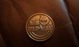 Vintage Rare Ms Pac-Man game token from the 1982 World's Fair Video Expo - $49.99
