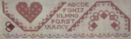 CLEARANCE Bookmark of the Month: February Kit cross stitch kit The Workbasket  - $14.00