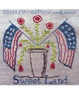 CLEARANCE Sweet Land patriotic cross stitch cha... - $6.00