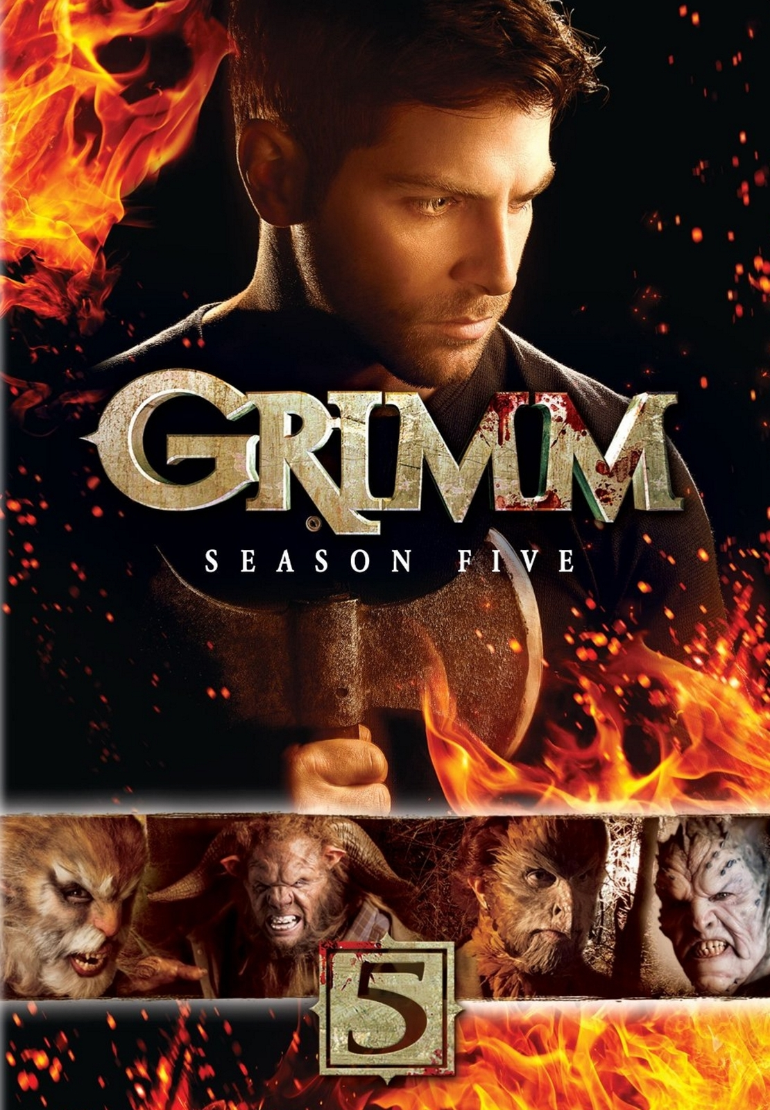 Grimm Fifth Season Five 5 (DVD 2016, 5-Disc Set) + Slip Cover Scary SciFi