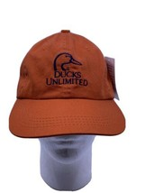 Vintage Ducks Unlimited Strap back Orange Logo Dad Hat New With Tags - $24.75