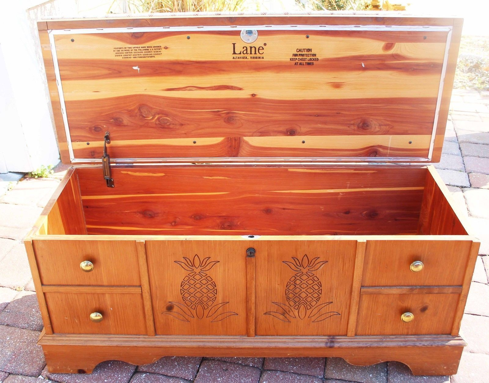 VINTAGE AMERICAN LANE PINE CEDAR HOPE CHEST~ EUC