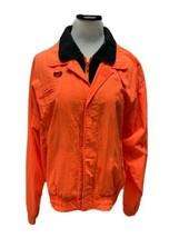 Weekends Vintage 90s jacket windbreaker orange zipper front size L - $38.60