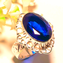 POWERFUL RING BLUE SHAPPIRE  BRING ME MONEY FAST SPELL 7 CASTS ONE DAY S... - $45.99