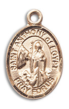 14K Gold St. Anthony Of Eg Yellow Gold Plated Medal 1/2 x 1/4 inch - $224.13