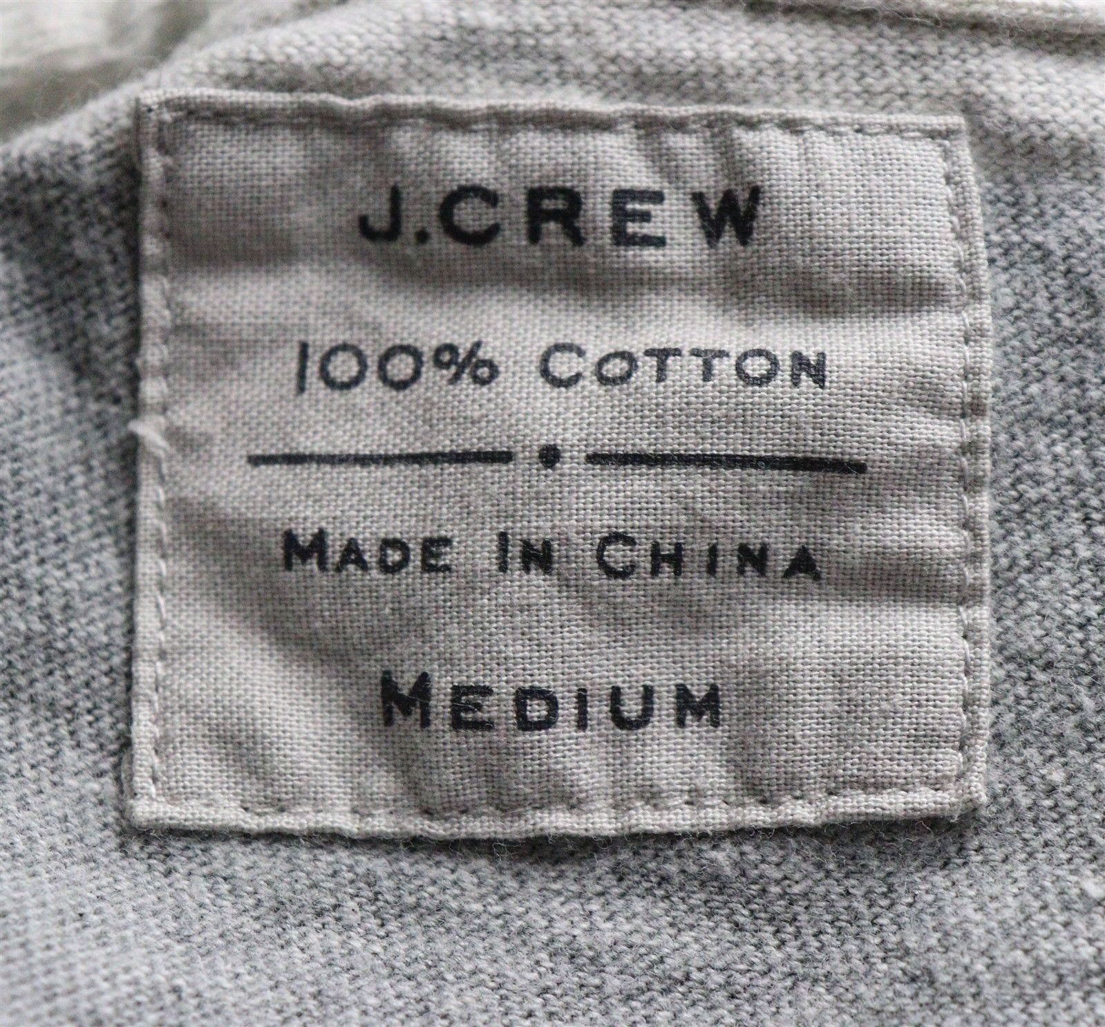 J. Crew Mens Long Sleeve Gray Polo Shirt Size Medium