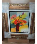 NEW Framed Emile Bellet Bouquet Printemps Giclee on canvas - $525.00