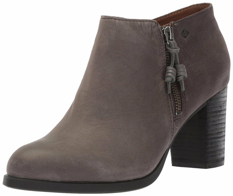 Sperry Top-Sider Womens Dark Grey Dasher Lille Ankle Fashion Bootie STS80148 NIB