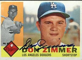 Don Zimmer Autographed 1960 Topps Baseball Card - $51.42