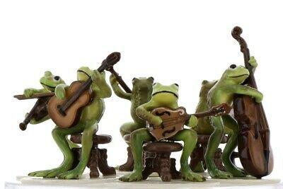 Hagen Renaker Froggy Mountain Breakdown Complete Bluegrass Frog Band 6 Piece Set