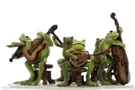 Hagen Renaker Froggy Mountain Breakdown Complete Bluegrass Frog Band 6 Piece Set image 1