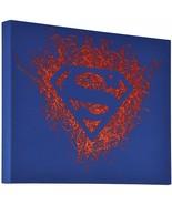 Superman Logo Paint Splatter Canvas 16 by 20 - $18.69