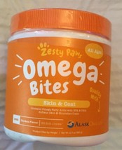 Omega Bites for Dogs, Skin & Coat, All Ages, Chicken Flavor, 90 Soft Che... - $29.99