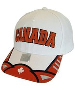 Canada Men's Small Stars Adjustable Baseball Cap (White/Red) - $11.95
