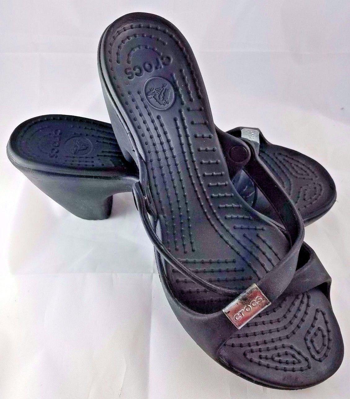 1cc0d076e7 Womens CROCS Cyprus lV black chunky heels platform 3