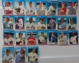 1987 Fleer Philadelphia Phillies Team Set of 24 Baseball Cards - $3.50