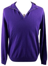 NWT Polo Golf Ralph Lauren 1/4 Zip Merino Wool Sweater MENS MEDIUM Purple - $89.99