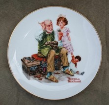 "Norman Rockwell The Cobbler 1984 6.5"" Decorative Collectible Plate Knowl... - $6.93"