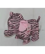 Baby Ganz Brand BG3192 Pink Black Zebra Print Ooh La La Plush Elephant - $10.99