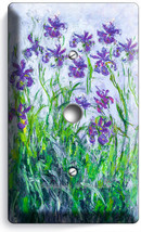 Lilac Irises Claude Monet Painting Light Dimmer Cable Wall Plate Room Art Decor - $9.89