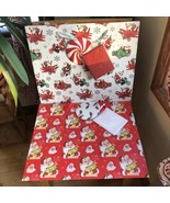 FAO Schwarz and Jingle & Joy Gift Bags Vintage Style Santa Airplanes Mot... - $14.85