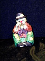 AA19-1440Emmett Kelly Clown Music Box Vintage - $69.25