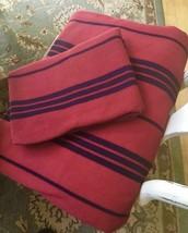 Pottery Barn Teen Striped Duvet Cover Red Black Twin 1 Standard Sham Dor... - $38.00