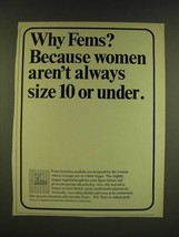 1966 Fems Feminine Napkins Ad - Why Fems? Because women aren't always si... - $14.99