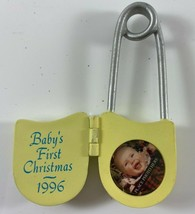 1996 Hallmark Keepsake Ornament Baby's First Christmas Safety Pin  - $9.89