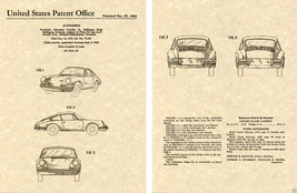 PORSCHE 911 912 US PATENT Art Print READT TO FRAME!!!!! Vintage sports car - $9.89