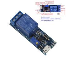 5 V-30 V Micro USB Power Einstellbare Zeitrelais Timer Control Modul Tri... - $5.87