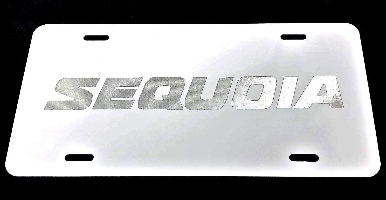 27645b65c38 Toyota Sequoia Car Tag Diamond Etched on and 50 similar items. S l1600